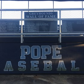 Pope High School Baseball Signs